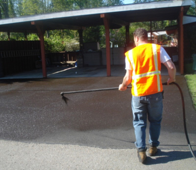 Residential Paving: Seattle Asphalt & Driveway Repair | Road's Paving - sealcoat1